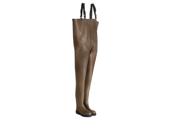 These BROWN CHEST WADERS from Le Chameau are the most popular waders among oyster growers and are made from a strong, natural and breathable fabric.