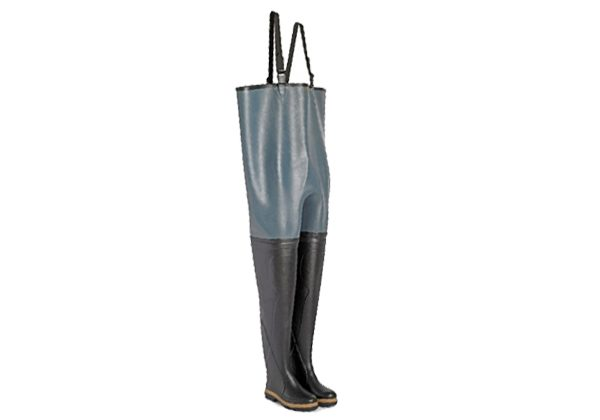 These GREY & BLACK CHEST WADERS from Le Chameau are reinforced to be resistant to cuts & abrasions and feature a shock-absorbing heel with anti-slip sole.