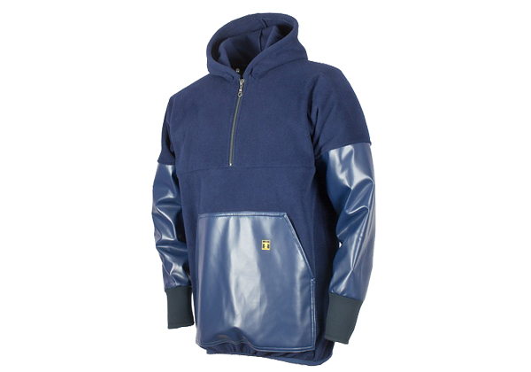 The Guy Cotten Kodiak Fleece is made from warm thermal fleece with nylpeche cuffs and PVC coated panels on the sleeves and front pocket.