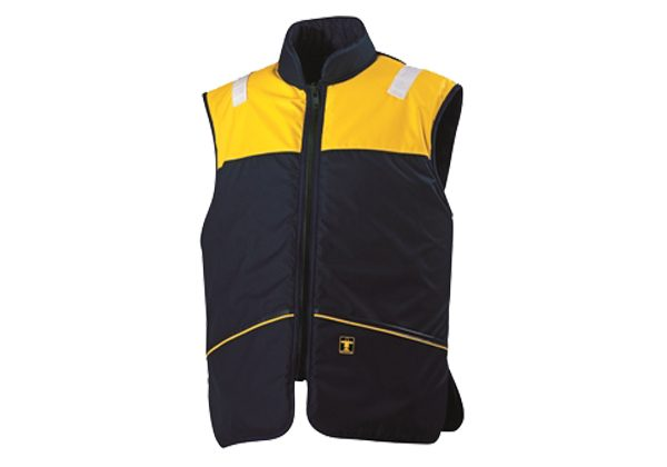 The BARAKA Flotation Waistcoat from GUY COTTEN comes with an acrylic fur lining. It is light weight, very comfortable and does not restrict movement.