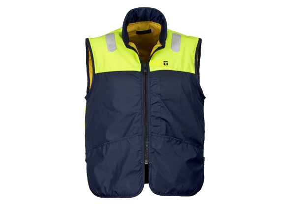The NEPTUNE Flotation Waistcoat from GUY COTTEN is light and comfortable to wear, with reflective bands on the shoulders and back.