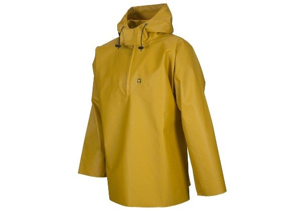With a peaked hood and open sleeves, this Guy Cotton smock really is the industry standard and is the classic short fishing smock.