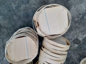 Solid Lids for Round Wooden Baskets