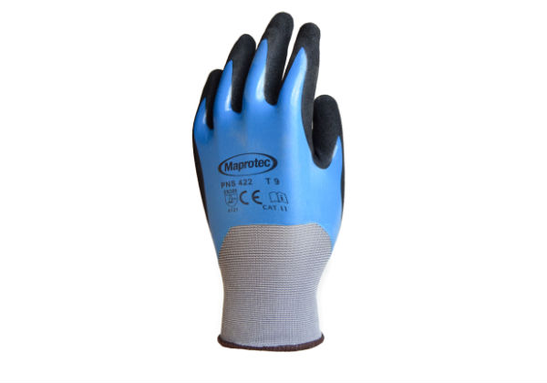 Featuring an all-over coat of nitrile for extra puncture protection these MAPROTEC Blue & Black Gloves are an excellent addition to our specialist range.