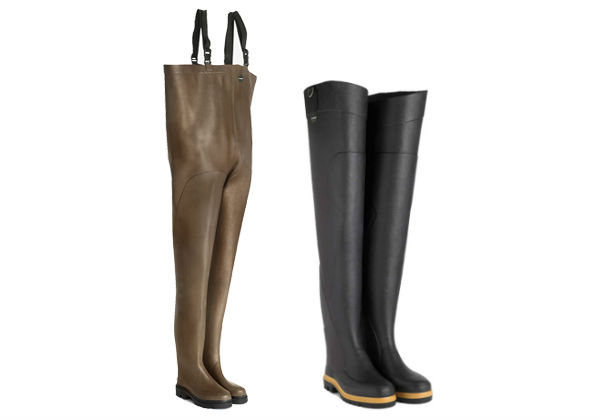 Choose your waders first on how the boots fit. Waders are made to be worn loose around the body so the important thing is not to have a snug fit.