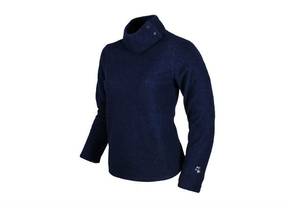 Made from softwear fleece, this attractive fleecewith turtleneck has been specifically tailored for women by Guy Cotten. Very comfortable to wear.