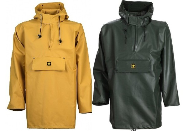 With a peaked hood and open sleeves, this Guy Cotton smock is the industry standard and features a chest pocket and a wide hood with visor.