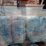 Blue-tinted Pallet Wrap